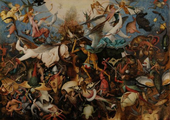 Bruegel the Elder, Pieter: The Fall of the Rebel Angels. Fine Art Print/Poster. Sizes: A4/A3/A2/A1 (002008)
